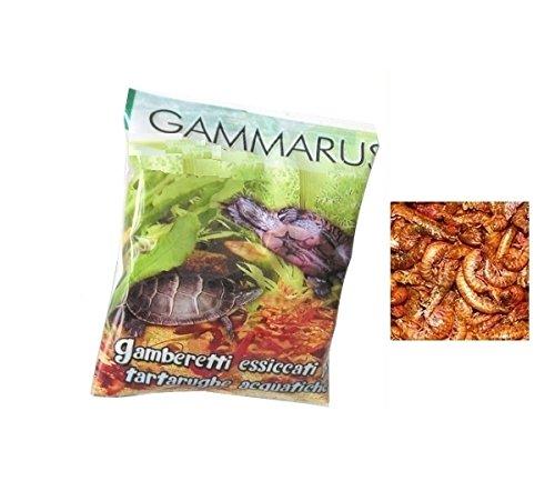 Mondial Fauna Gammarus–Garnelen getrocknet für Wasserschildkröten und Fische von Große Größe