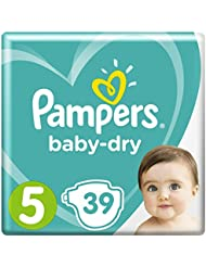 Pampers Baby-Dry Air Channels For Breathable Dryness Overnight, 39 Nappies, 11-16 kg, Size 5