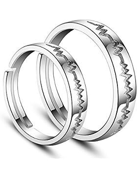 Sweetiee 2 Partnerringe Freundschaftsringe Eheringe Ringe Einfach Sterling Silber