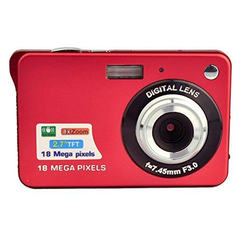 PowerLead PL2802 2.7inch 18MP Mini Digital Camera 8x Digital Zoom (Red) Test
