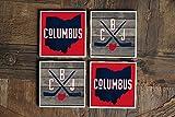 Columbus/CBJ/Columbus Untersetzer/Columbus Geschenke/Ohio/Columbus Hockey/Columbus Ohio/Untersetzer/Ohio-Untersetzer/Hockey-Untersetzer