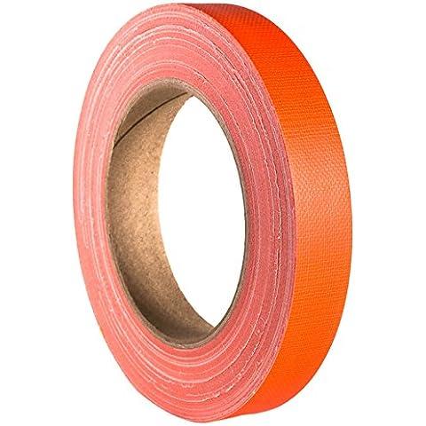 ah Accessories - Nastro adesivo telato, 19 mm x 25 m, Arancio fluo