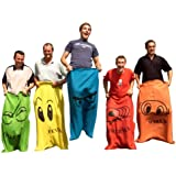 Garden Games Sack Race - 5 Adult Sized Hessian Bags for Racing
