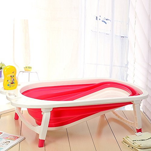 ABO Klappbar Baby Badewanne,(rot), Qfy1576 (Red)