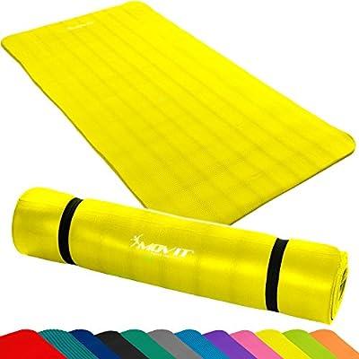 MOVIT Pilates Gymnastikmatte, Yogamatte, phthalatfrei, SGS geprüft, in 2 Größen 190cm x 100cm oder 190cm x 60cm, Stärke 1,5cm, in 12 verschiedenen Farben