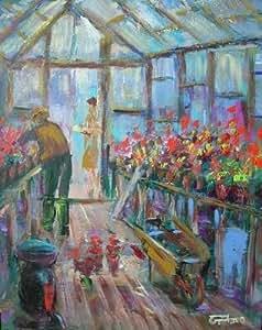 "Heaven ""effet de serre Par Leon Goodman peinture à l'huile (Original)"