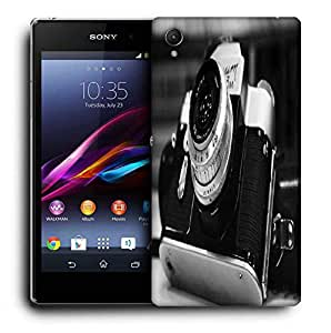 Snoogg Camera Black And White Printed Protective Phone Back Case Cover For Sony Xperia Z4