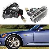 [1 Paar] OZ-LAMPE LED Seitenmarkierungs blinker, Fahrtrichtungsanzeiger für Hond-a Civic, Del Sol, S2000, Acur-a Integra (Transparente Linse)