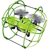 Rabing IFLYING Mini RC Quadcopter 2.4GHz Remote Control Climbing Wall Aircraft with 6 Axis RC Drone (Green)