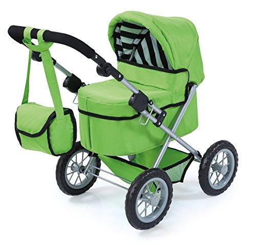 Bayer Design 1302700 - Puppenwagen Trendy für Puppen, 46 cm, grün