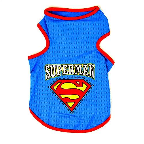 4yourpet Hundeshirt, Superman Shirt für Hunde - Mach deinen Hund zum Superhelden, Größe: M