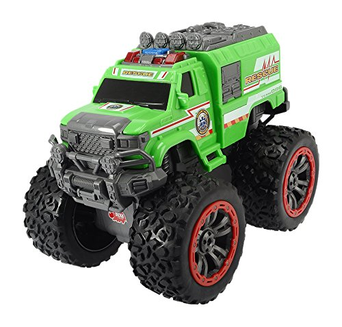 Dickie Toys 203304003-Mountain Rescue, Monster Truck, 23cm