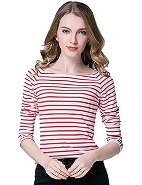 Primavera Y Otoño Señoras Manga Larga Camiseta Camisa