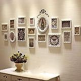 CQSMOO Mauer Skulptur Rahmen Foto Wand Europäischen Stil Massivholz Kreative Wandbehang 16 Bilderrahmen Kombination Wohnzimmer Esszimmer Collage Bilderrahmen by