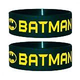 Batman - Text And Logo - Silikon Armband für Sammler - Wristbands -24x65x1 mm dehnbar