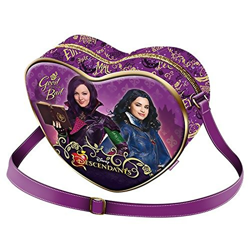 Descendientes-Disney-Bolso-de-mano-con-forma-de-corazn-diseo-de-descendientes-color-morado