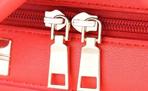 Frauen Bag Shopper Bag Handtasche Leder PU Fashion Tote Damen Elegante Red Messenger Schultertasche Bag rwY4xqrZU