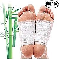 Preisvergleich für GFEU Detox Fuß-Pads, 100 Stück, natürliche, organische Toxin-Fußpads zur Entfernung von Unreinheiten, lindert...