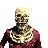 Skelett Maske - perfekt für Fasching, Karneval & Halloween - Kostüm für Erwachsene - Latex, Unisex Einheitsgröße