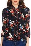 Colors Couture Black Kristy Floral Shirt
