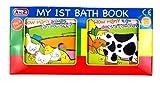 """Libro in plastica per il bagnetto dei neonati, con scritta in lingua inglese """"My 1st bath book"""",..."""