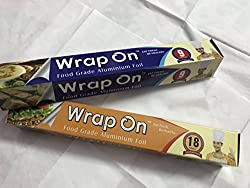 WrapOn Food Grade Aluminium Foil - 18m + 9m
