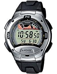 CASIO Collection W-753-1AVES - Reloj de caballero de cuarzo, correa de resina color negro (con cronómetro, alarma, luz)
