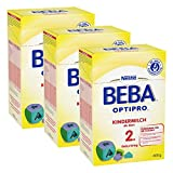 Nestlé BEBA Optipro 2, Kindermilch, Babynahrung, ab 2 Jahren, 3 x 600 g, 12310027