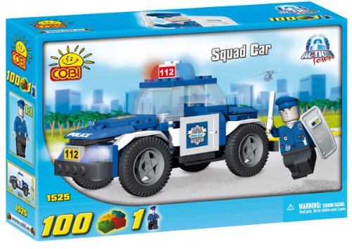 Cobi-Action-Town-Police-Squad-Car-Toy-Playset