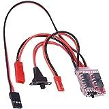 Dilwe RC Voiture ESC, contrôleur de Vitesse électronique de Carte PCB Brushed 20A avec Frein pièce de Rechange pour Voiture /
