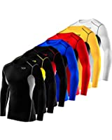 Mens & Boys TCA HyperFusion Compression Base Layer Top Long Sleeve Under Shirt