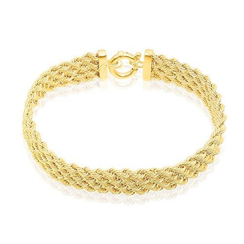 HISTOIRE D'OR - Bracelet Or Jaune Maille Corde - Femme - Or jaune 375/1000