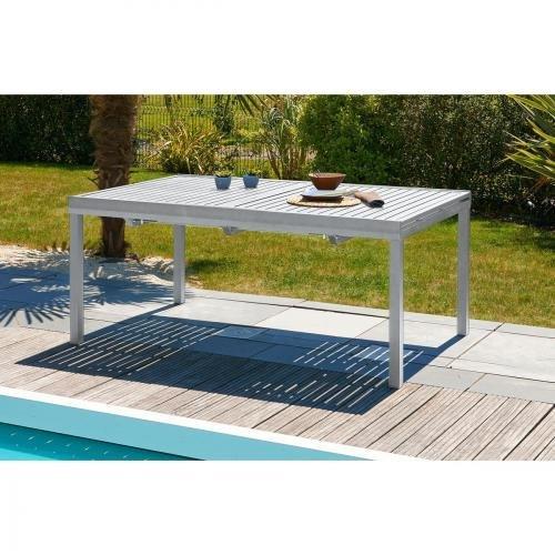 DCB GARDEN Table Gris Galet 180 x 110 x 73 cm ORLANDO-TB240