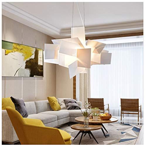 AXIU Kronleuchter Nordic Postmodern Kreative Persönlichkeit Kunst Restaurant Bar Lampe Weiß Acryl Stack Pendelleuchte Kronleuchter (Farbe : Weiß) -