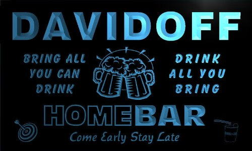 q10362-b-davidoff-family-name-home-bar-beer-mug-cheers-neon-light-sign