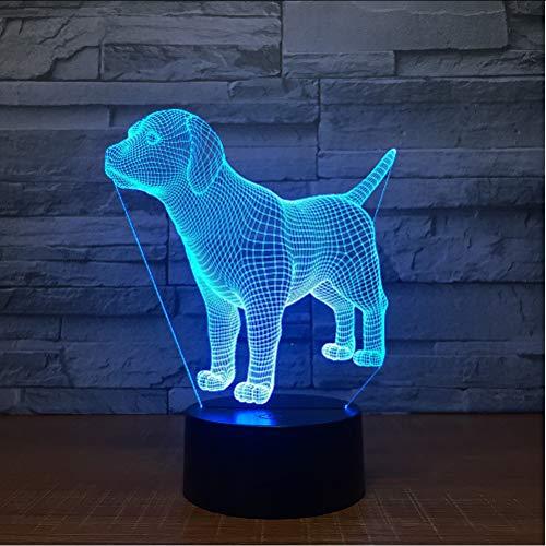 Mmzki Neue Kleine Nachtlichter Kinder Tag Geschenk Led Pet Hund Bunte Usb 3D Lampe Koffer Spielzeug Großhandel 3D Leuchten