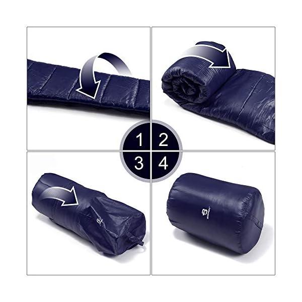 Bessport Mummy Sleeping Bag -10 Degree Celsius - 4 Season Backpacking Sleeping Bag for Adults & Kids – Lightweight Warm… 6
