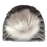 Longsw Bonnet De Laine Pour Bébé Nouveau-Né Coiffe, Pois Tricoter Accessoires De Décoration De Boule De Cheveux Au Crochet, Vêtements Photographiques Mignons