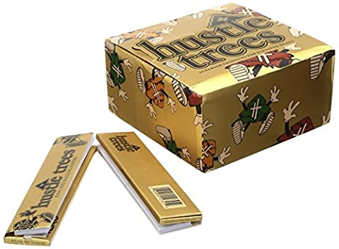 Hustle Trees Men's HT King Size Papers 24 Pack, Metallic/Gold, One Size