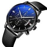 Montre, montres pour hommes, montres de luxe d'affaires de mode de style décontracté pour hommes avec calendrier, montre-bracelet à quartz étanche multifonctionnel