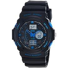 (Renewed) SKMEI Analog-Digital Multi-Colour Dial Men's Watch-AD0955 (BK Blue)