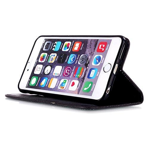 MOONCASE Étui pour iPhone 6 / 6S (4.7 inch) Printing Series Coque en Cuir Portefeuille Housse de Protection à rabat Case YB08 A04 #1117