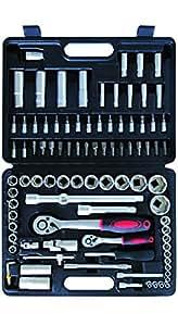 23- Pièces Kit d'outils avec jeu de douilles 1/4et 1/5,1cm (94pièces)