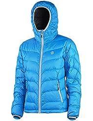 ternua Chaqueta de plumas/Chaqueta Acolchada Chaqueta de invierno/Etive con capucha, color azul claro, talla XS UVP 229,95 euros
