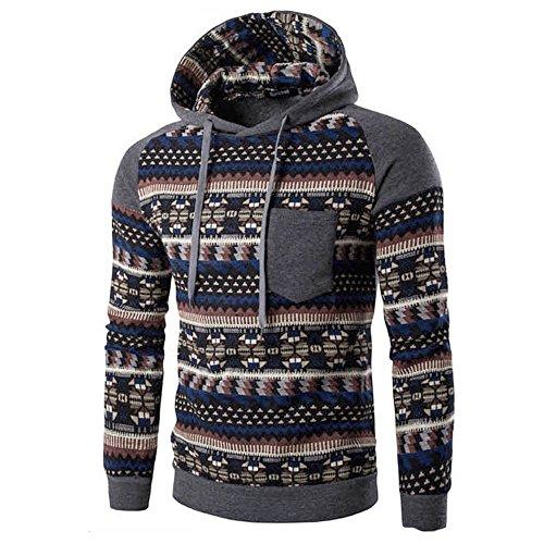 Clearance Sale [M-2XL] ODRD Hoodie Männer Sweatshirt Herren Retro Sweater Outwear Sweatjacke Parka Cardigan Lässige Mantel Kapuzenpulli Pulli Pullover Langarmshirts Jacke Hooded Top -