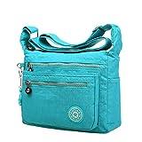 Mädchen Umhängetasche,Amlaiworld Freizeit Damen Mädchen wasserdicht Nylon Messenger Bags Schultertaschen (Himmelblau)