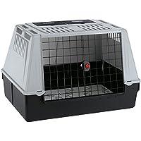 Ferplast Autotransportbox Atlas Car 100 für Hunde und Katzen / Tiertransportbox aus Kunststoff mit praktischer Zwei-Wege-Schiebetür und Zubehörfach - für Tiere bis zu 40 kg / Maße: 100 x 60 x 66cm