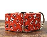 Martingal Hundehalsband: Red Bandana, von Hand gefertigt in Spanien von Wakakán