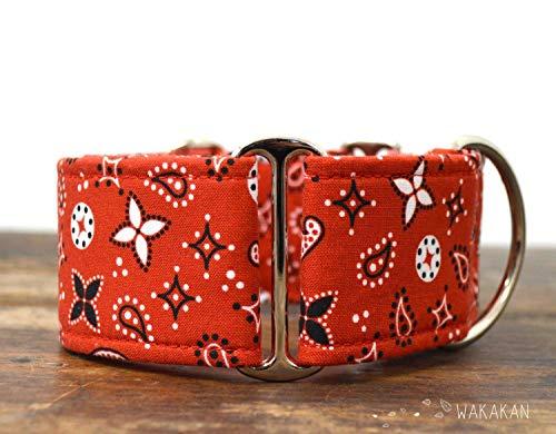 Collare-per-cani-martingale-Red-Bandana-fatto-a-mano-in-Spagna-da-Wakakn