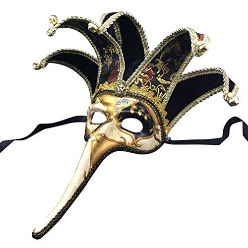 Amosfun Fancy Maske mit Langer Nase Halbe Gesichtsmaske -